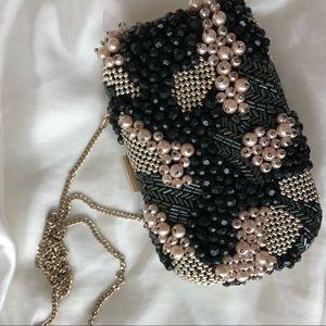 Unique pearl clutch from Zara